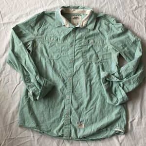 Vans off the wall mint colored long sleeve Large
